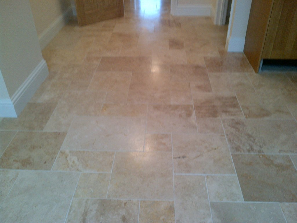 Travertine Floor Aylesbury Before