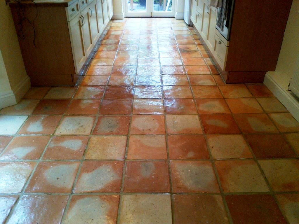 Terracotta Tiles After Sealing