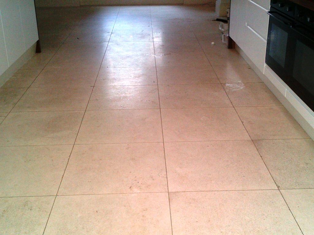 Limestone Floor Before Cleaning
