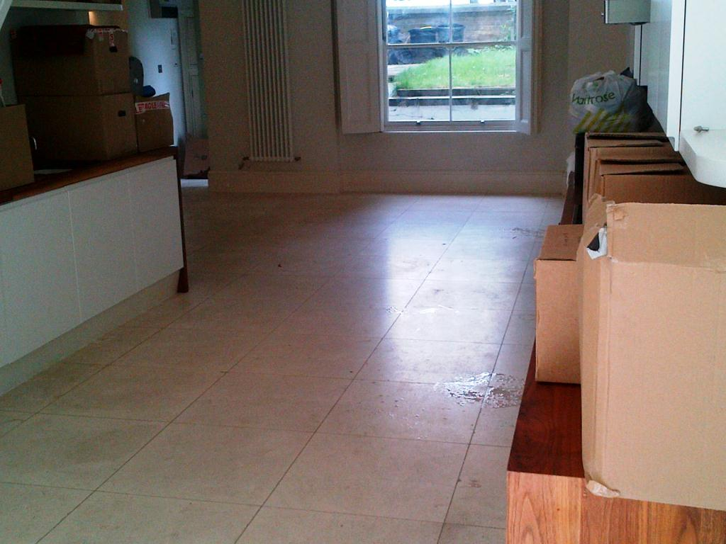 Limestone Floor Before Cleaning