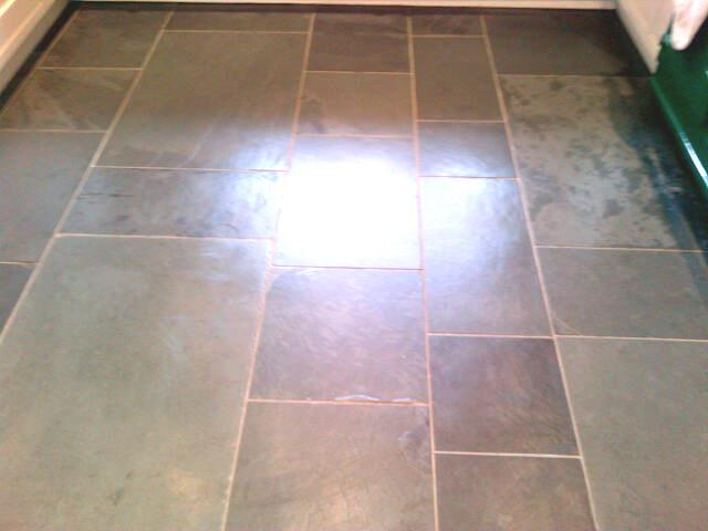 Slate Tiled Floor in Tring Bucks After