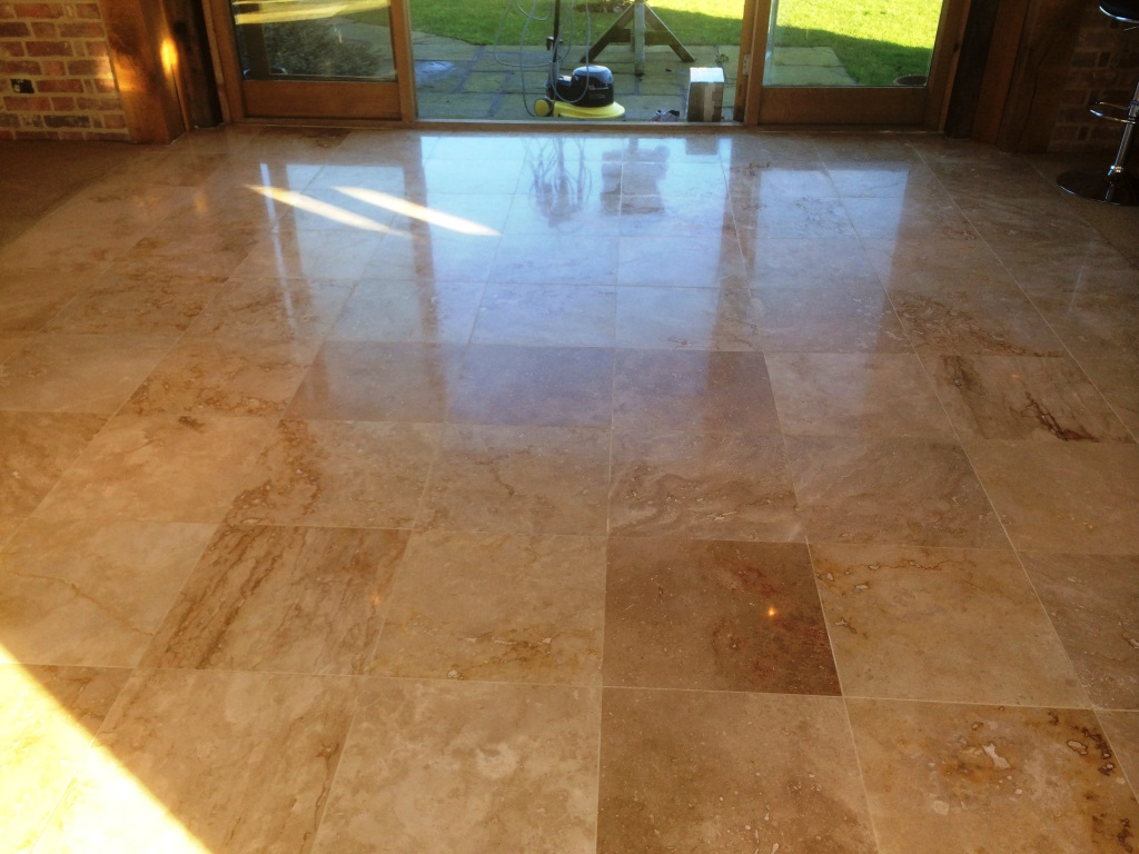 Travertine Tile in Aston Clinton After