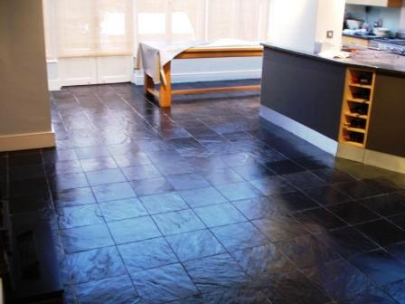 Riven Slate Kitchen Floor After