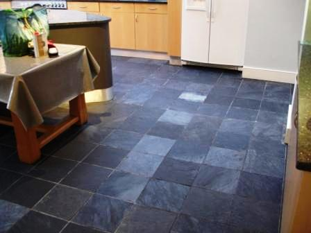 Riven Slate Kitchen Floor Before