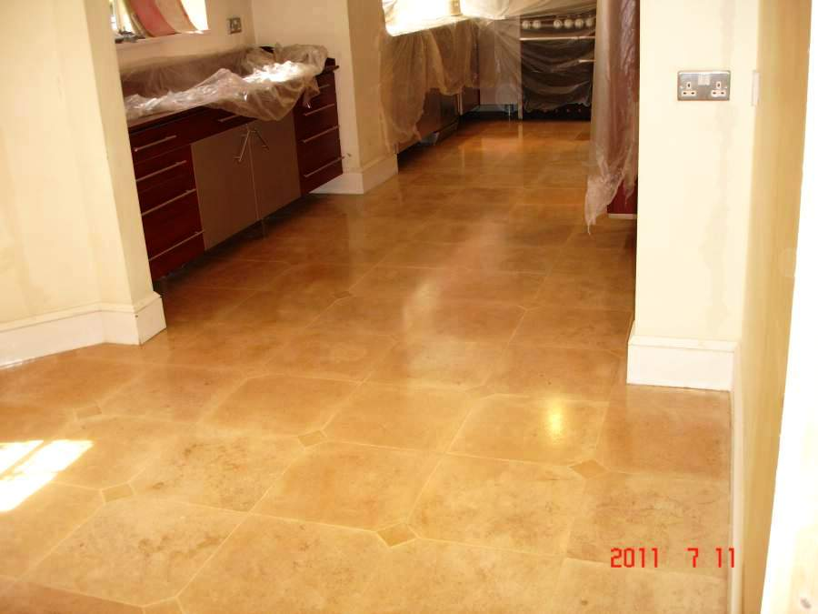 Travertine Cleaned and Sealed