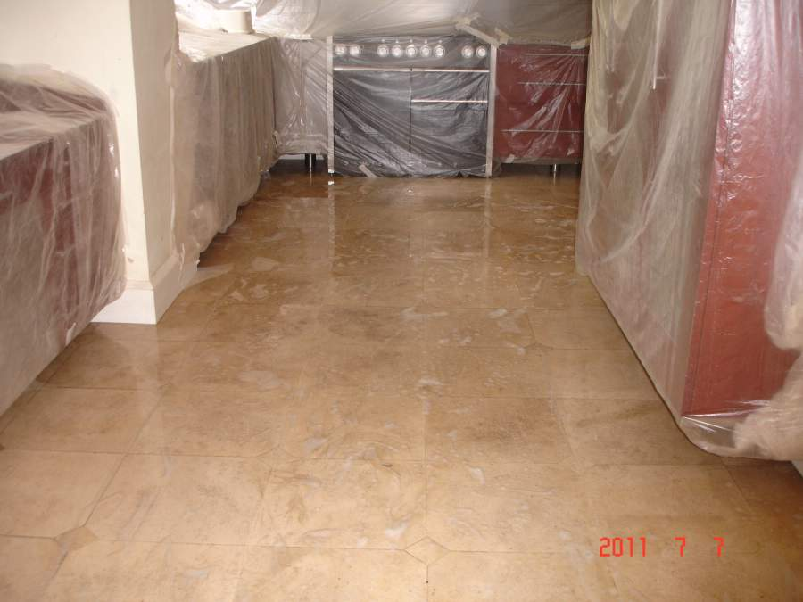 Travertine Floor Preparation