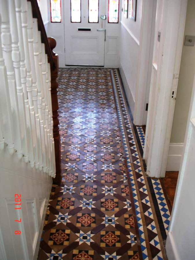 Victorian Tiled Hallway After