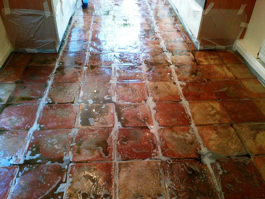 Terracotta Tiles During Cleaning