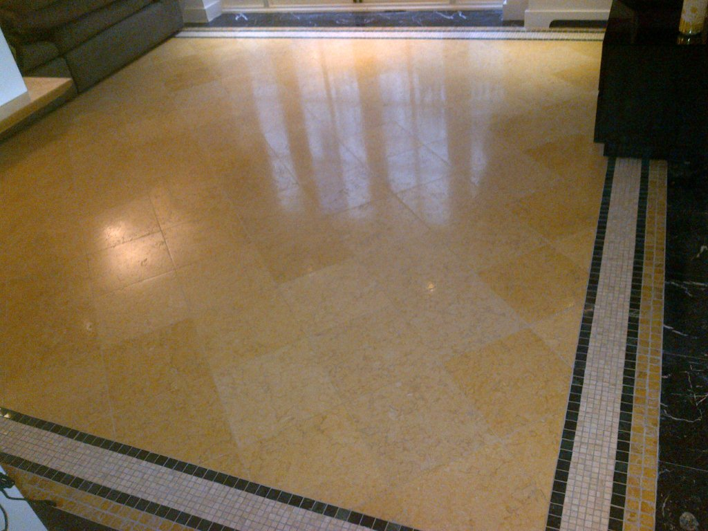 Textured Marble floor in Chesham After