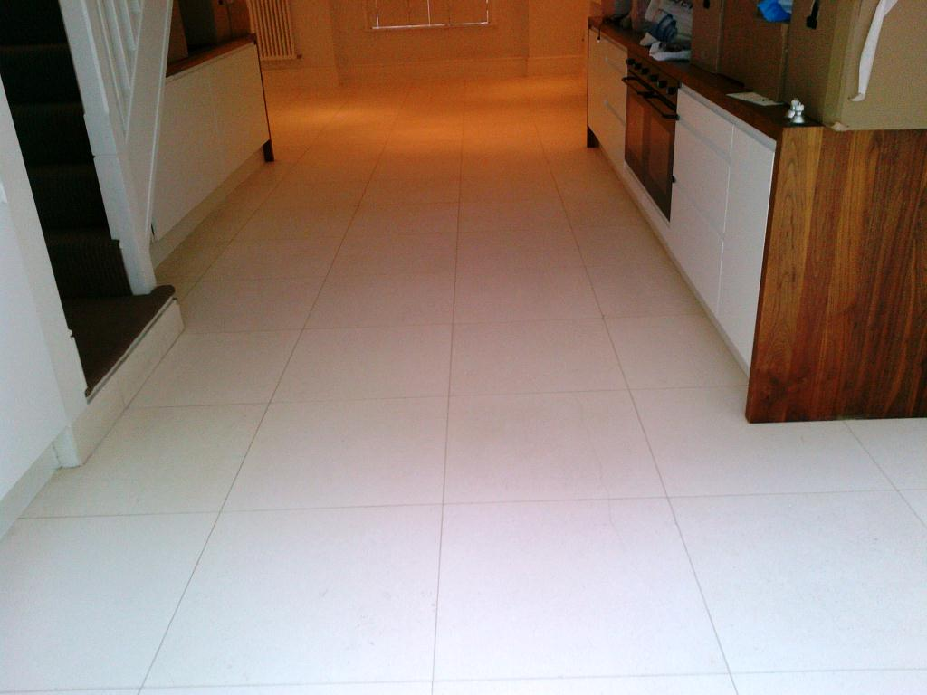 Limestone Floor After Cleaning
