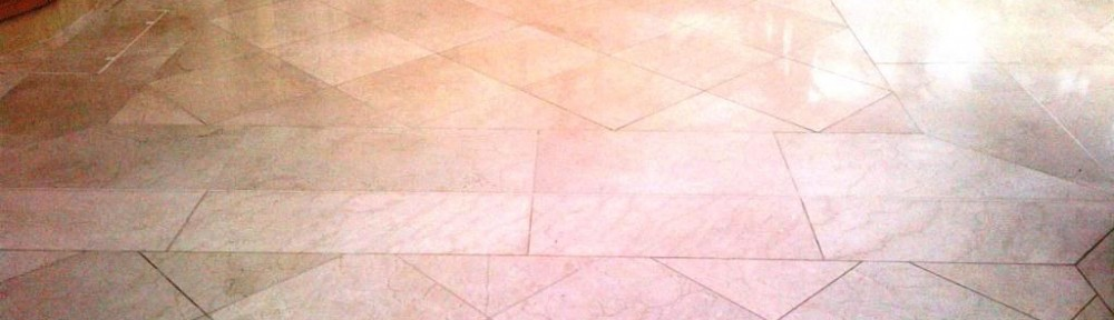Marble Tiled Floor Cleaned and Polished in Ealing