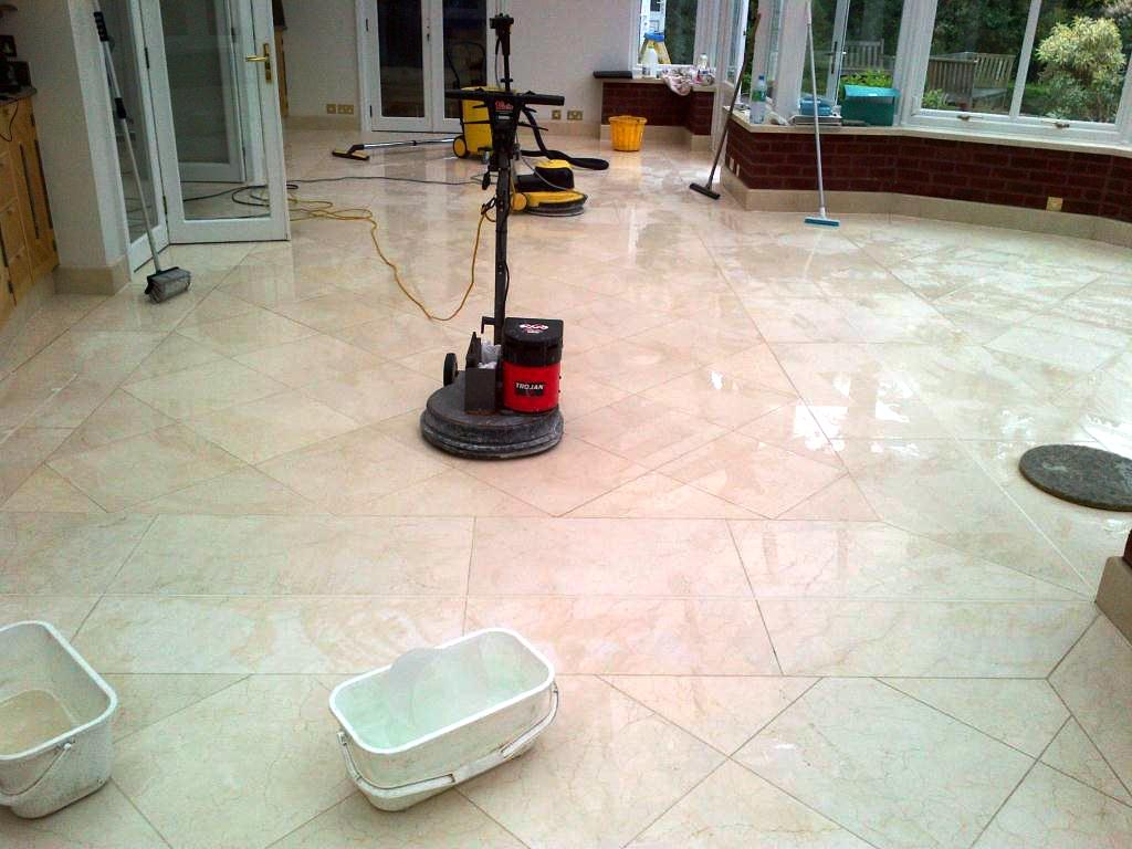 Marble tiled floor cleaned and polished in ealing south for How to clean polished floors