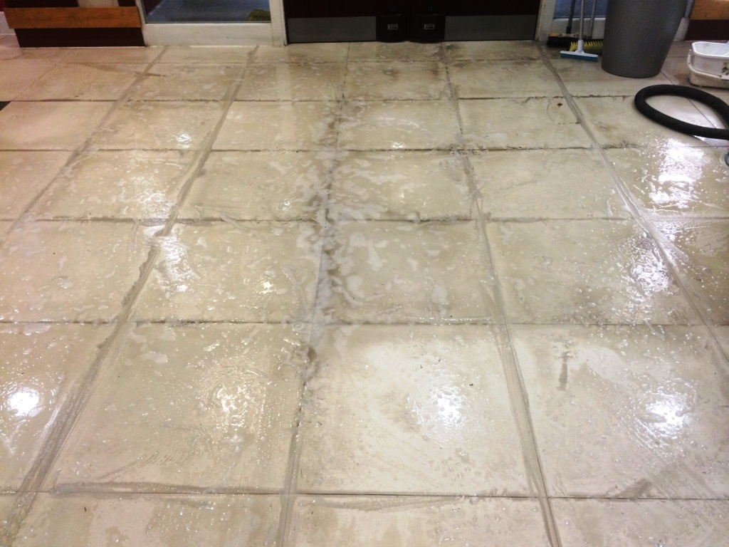 Cleaning white porcelain tiles at premises in aylesbury south aylesbury office porcelain floor cleaning dailygadgetfo Gallery