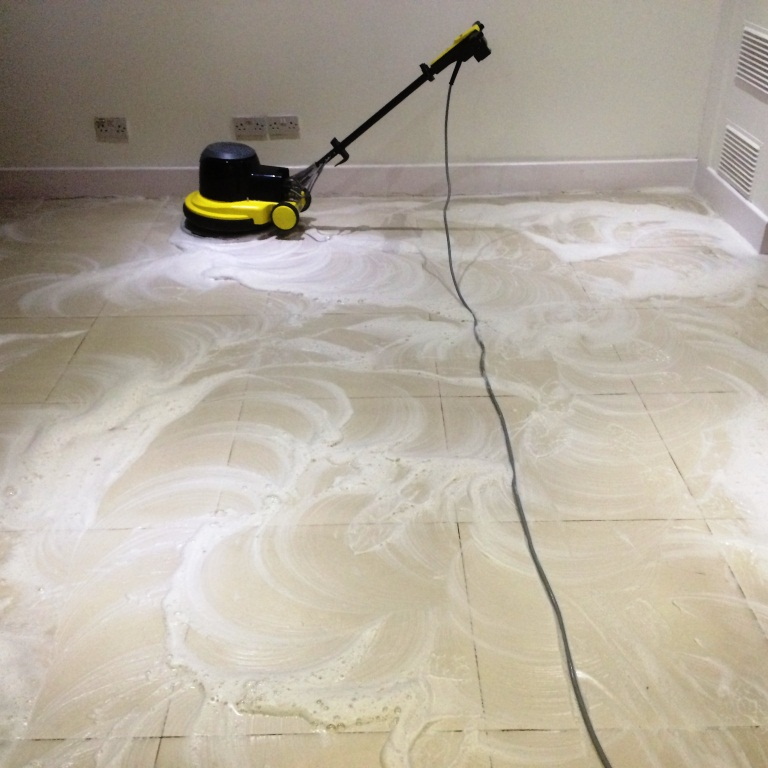 Cleaning White Porcelain Tiles At Premises In Aylesbury