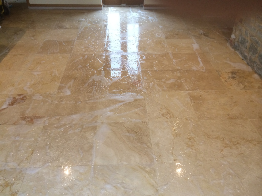 Sealer Problems Resolved On Travetine Floor Tiles Stone