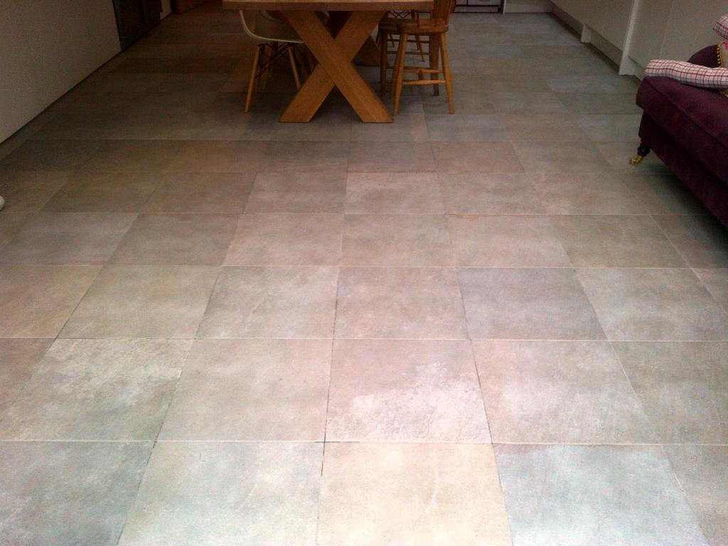 Micro porous textured porcelain in beaconsfield after cleaning