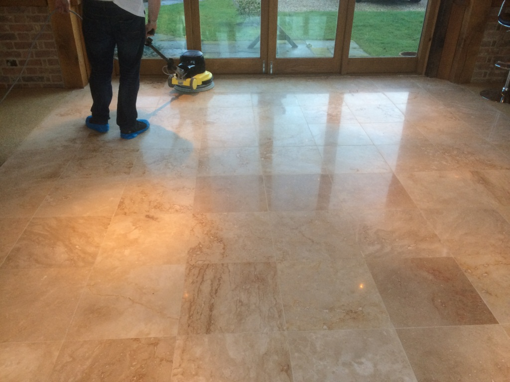 Polishing Travertine Tile in Aston Clinton During