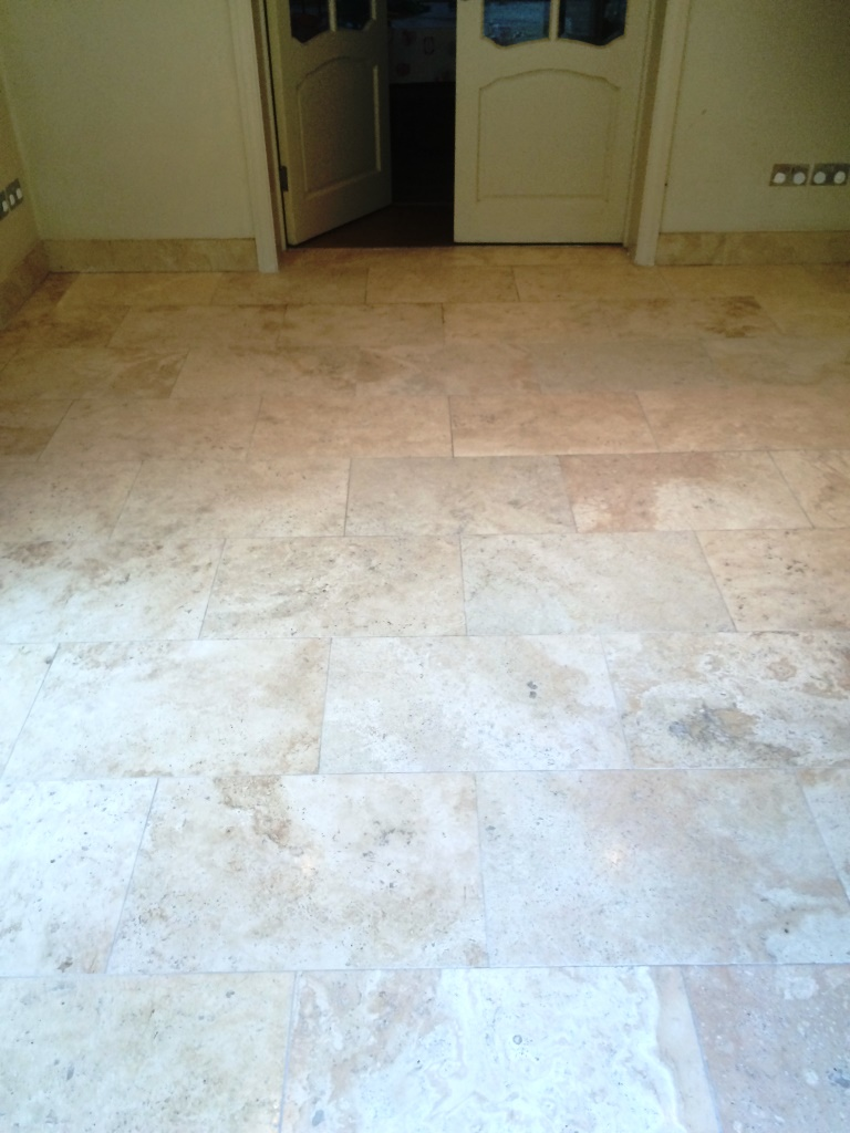 Limestone Kitchen Floor Deep Cleaning And Polishing A Limestone Tiled Kitchen Floor In