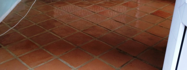 Tiled Terracotta Kitchen Floor, Winchmore Hill