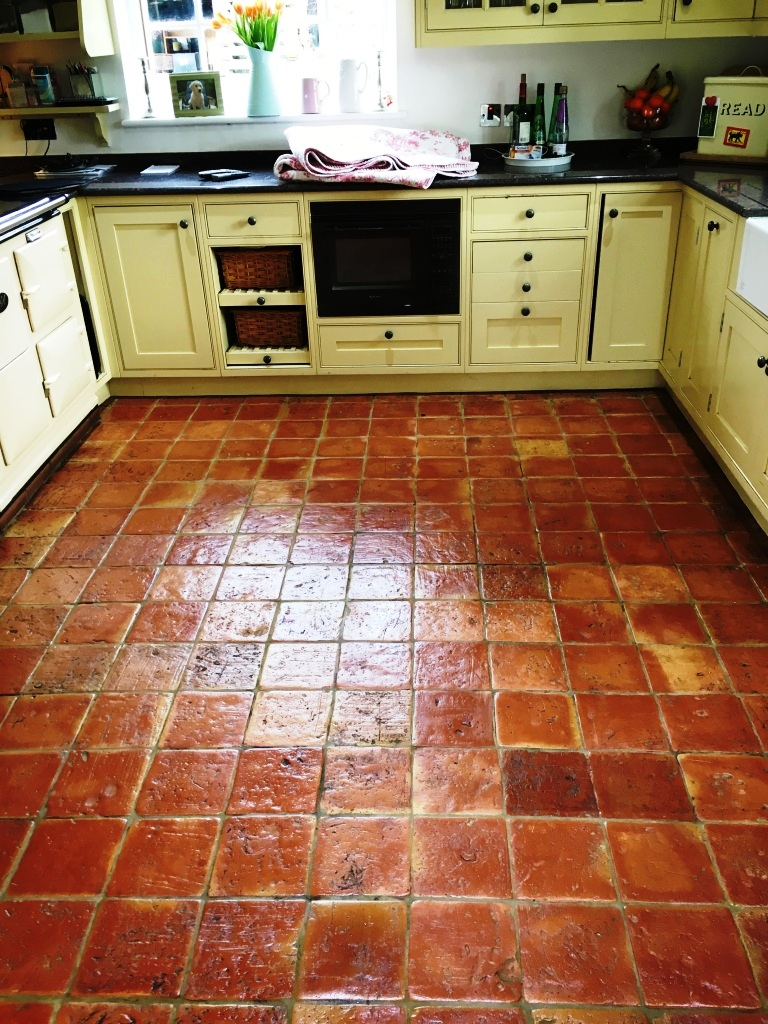 Terracotta Tile After Cleaning in Penn Bucks