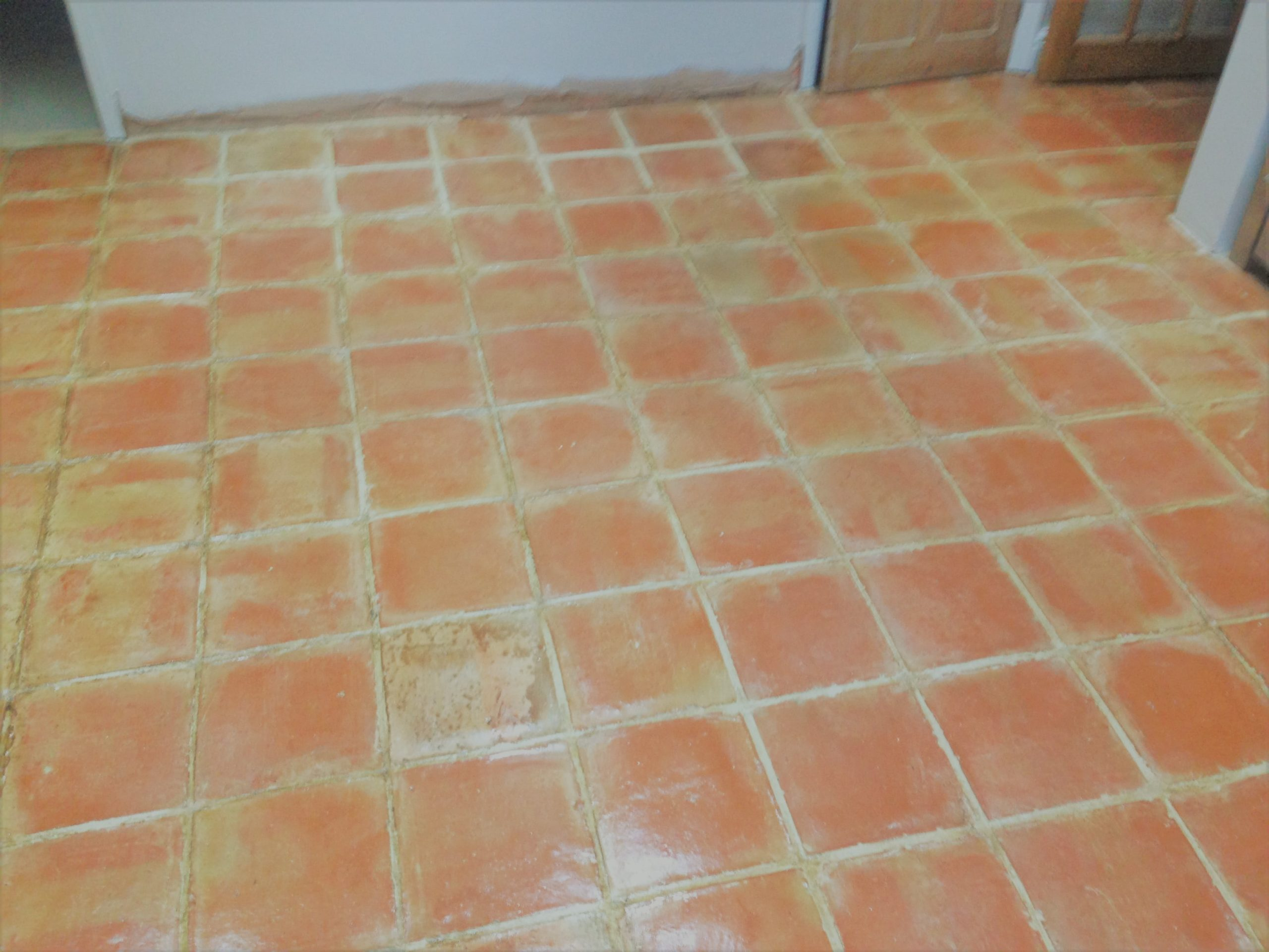 Old Terracotta floor refurbished in Shenley Brook End