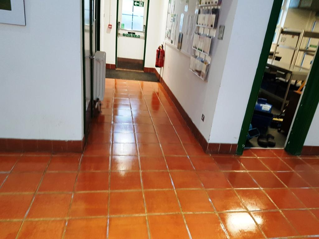 Terracotta Tiled Floor Refurbished in Amersham Council Building
