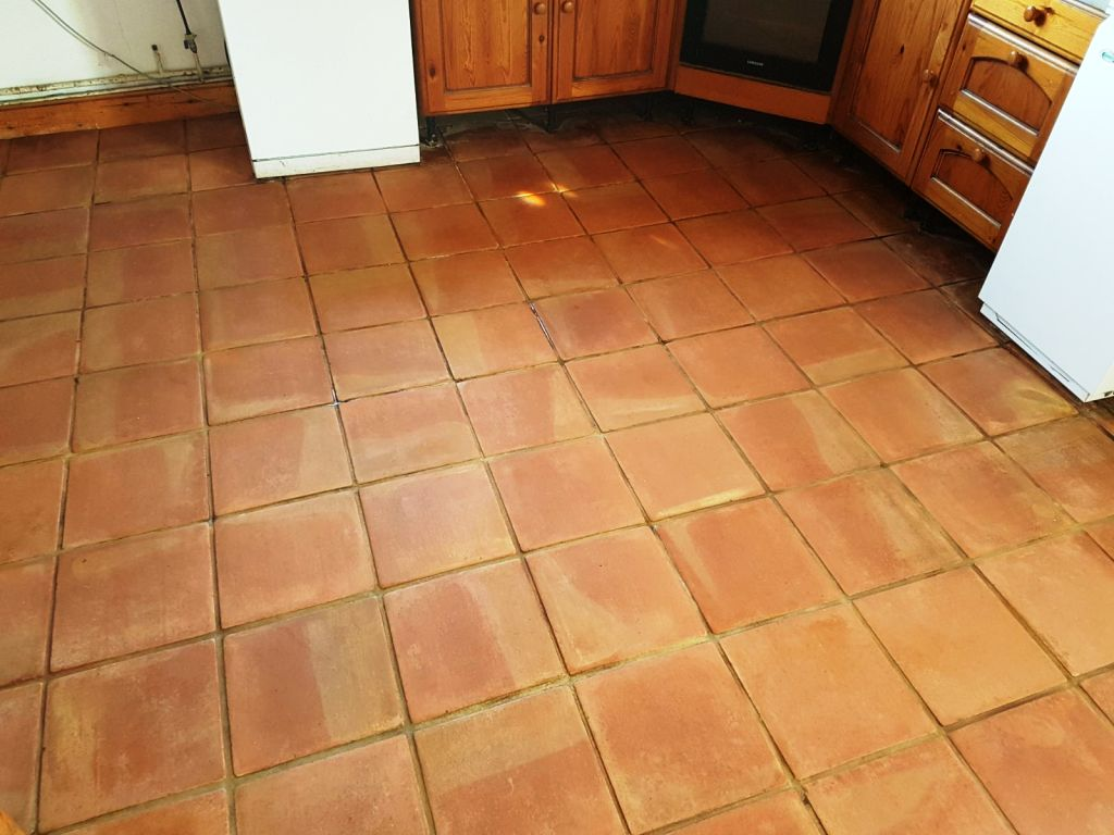 Terracotta Tiles After Cleaning Buckingham Farm Cottage