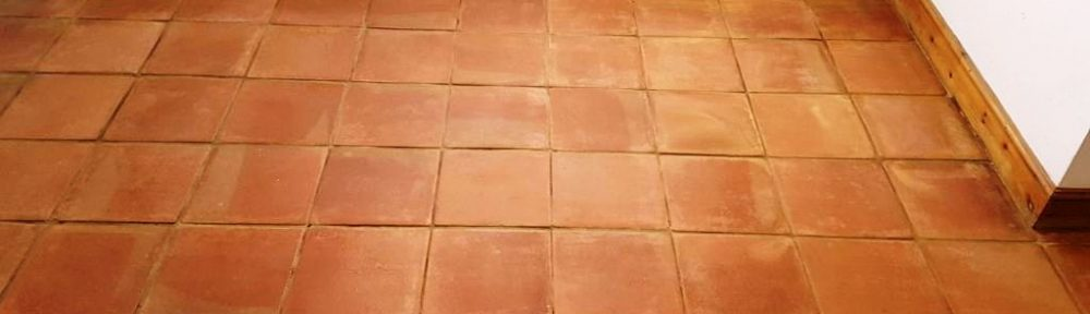 Terracotta Kitchen Tiles Refreshed in Buckingham Farm Cottage