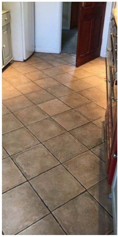 Porcelain Tiled Kitchen Floor Before Cleaning Henley on Thames