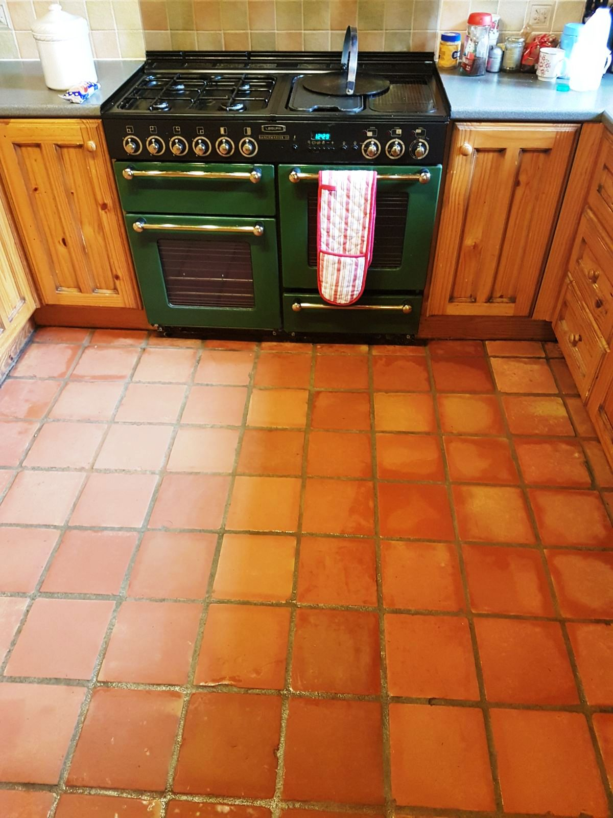 Terracotta Floor During Cleaning Milton Keynes