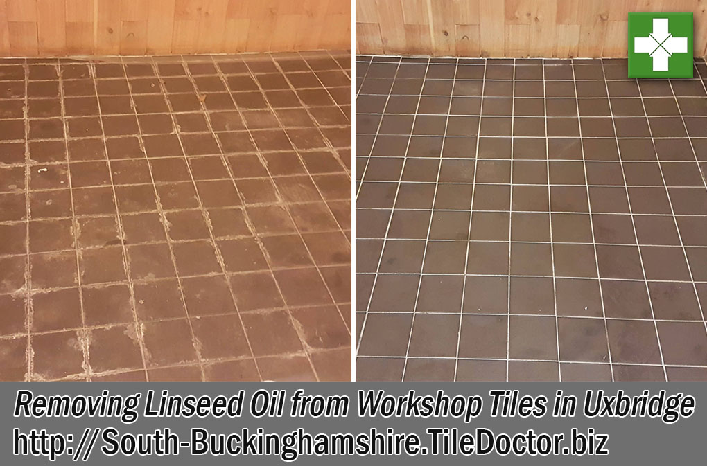 Ceramic Tiled Floor Before and After Renovation Uxbridge