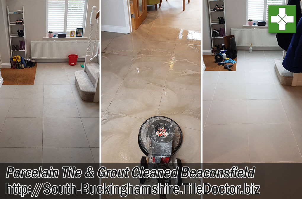 Porcelain Tile and Grout Before After Cleaning Beaconsfield