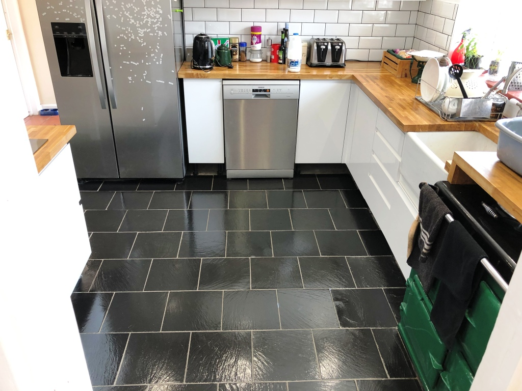 Kitchen Slate Floor Tiles After Renovation High Wycombe