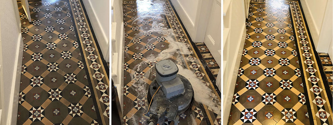 Victorian Tiled Hallway Deep Cleaned and Sealed in Chesham