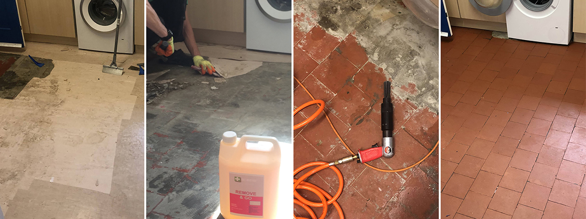 Renovating a Lino Covered Quarry Tiled Kitchen Floor in Ruislip