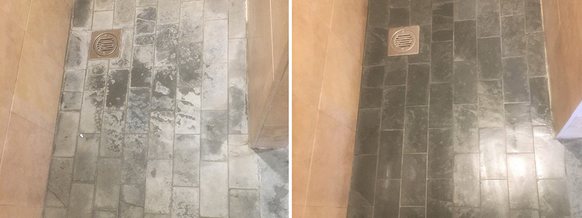 Removing Limescale from Slate Shower Tiles in High Wycombe